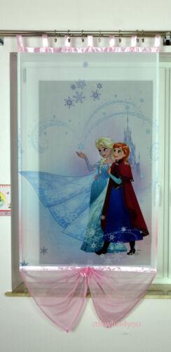 DISNEY Frozen Eiskönigin ELSA ANNA OLAF SVEN Gardine Kindergardine Vorhänge NEU