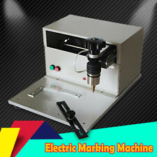 Electric Metal Marking Engraving Machine Nameplate Dog Tag Printing 170mm110mm