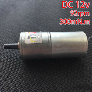 Mabuchi-Gear-motor-DC12V-92RPM-Large-Torque-full-Metal-Reduction-DC-Motor