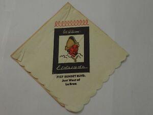 Art Williams Eldorado Dîner Club 7127 Sunset Blvd Environ 1960 Original CaractèRe Aromatique Et GoûT AgréAble