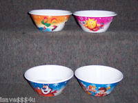 Set Of 4 Designs / Characters Kellogg's 2014 Winter Olympics Cereal Bowls -