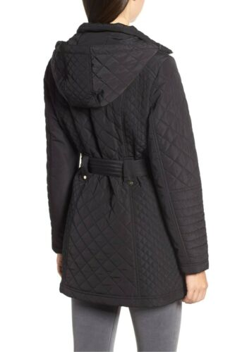 Jacket Black Quilted Large Hooded 320 Detail Coat Buckle New Donna Gallery York YTqHp