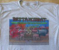 Betta Kombat Graphic T-shirt -grey- Small To 3xl -new- Cool Retro Vid Game Look