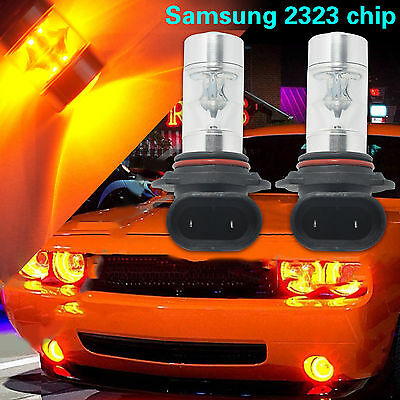 60W 9006 HB4 LED Fog Driving Light Samsung 2323 Hi-Power DRL Bulb 3000K Amber US