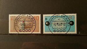 Federal-Frg-1983-Mi-No-1175-1176-Stamped-Frankfurt-Subscription-Sh-Shop