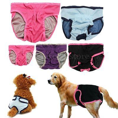 Hunde Schutzhose Unterhose Hundin Läufigkeit Hygienehose Unterwäsche XS/S/M/L/XL