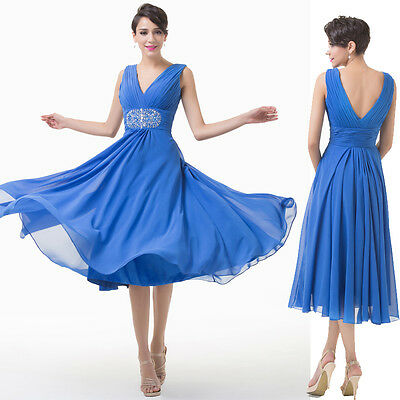 1950s V-Neck Mother of the Bride Wedding Evening Semi Formal Party Prom Dresses