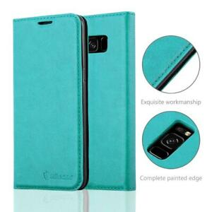 Anti-Radiation-RFID-Samsung-Wallet-Case-Teal-Samsung-Galaxy-S8