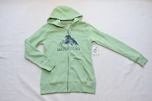 BURTON WOMENS ZIP UP MOUNTAIN HOODIE SWEATSHIRT JACKET GREEN