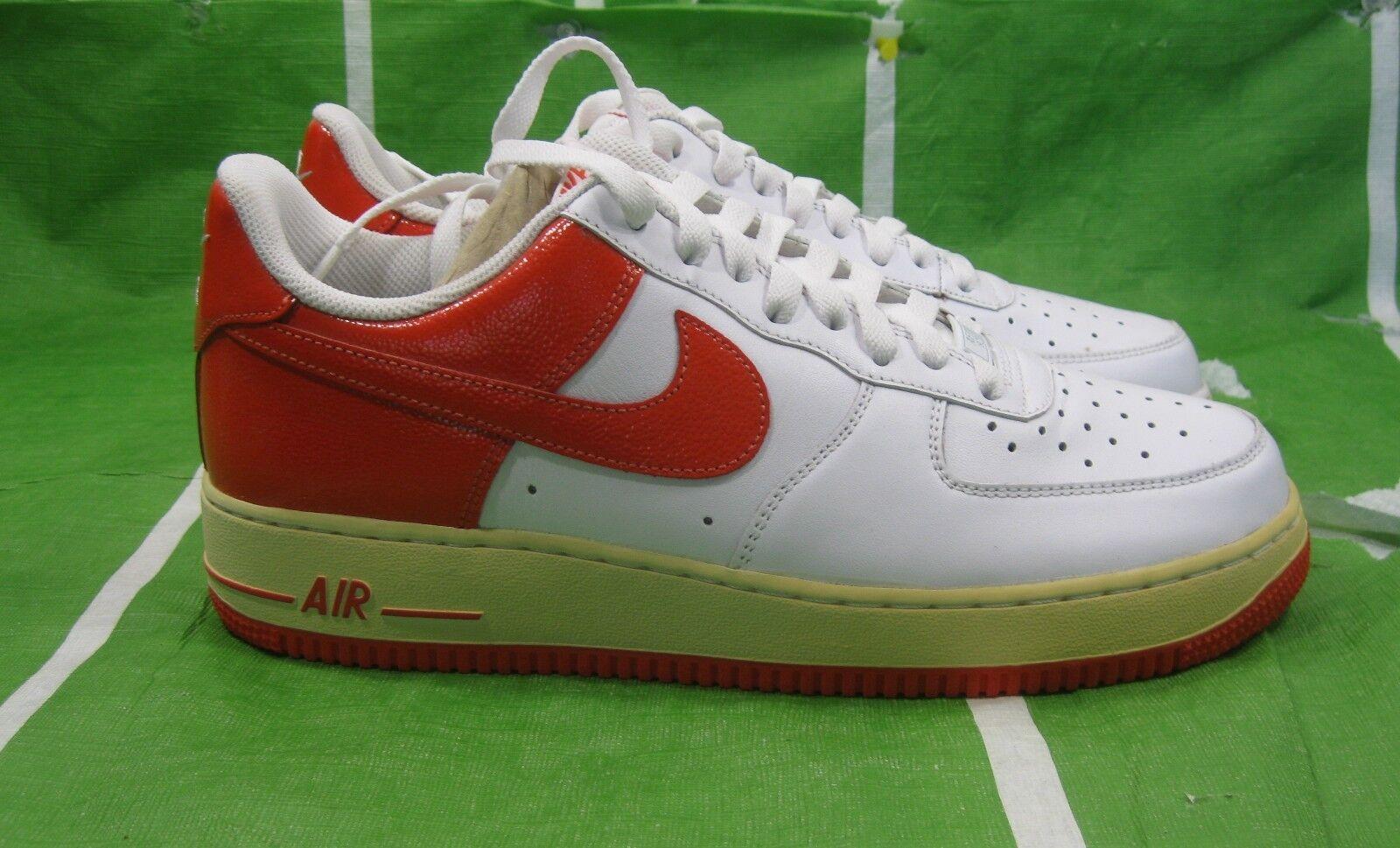 Nike Hommes Air Force blanc Orange Shoe - 315122-153 .blanc /Orange