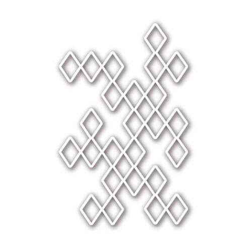 Diamond Lattice Metal Cutting Dies Stencil Scrapbooking Album Embossing Decor