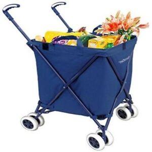 b161cdebf1b8 Details about Folding Shopping Cart - VersaCart Transit Utility Cart -  Transport Up to 120 ...