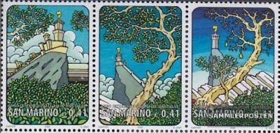 MüHsam San Marino 2027-2029 Dreierstreifen kompl.ausg. Postfrisch 2002 Jahr Der Berge
