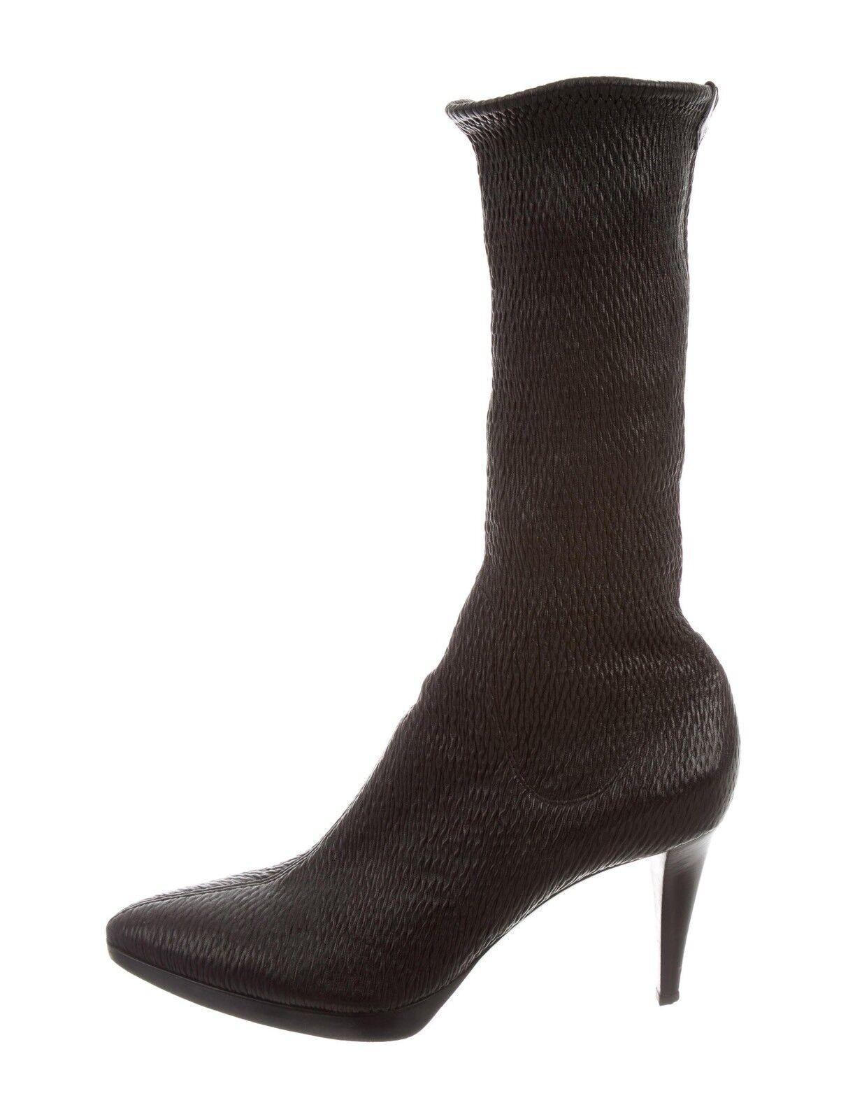 830 Sergio Rossi textura textura textura de cuero Calcetín botas 41  bajo precio