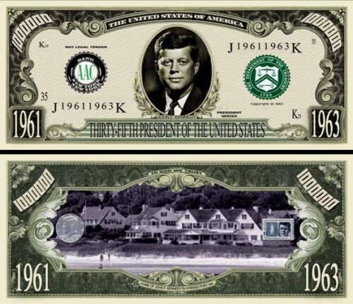 Schein Fake //Spaß //Sammler Geldschein John F Kennedy