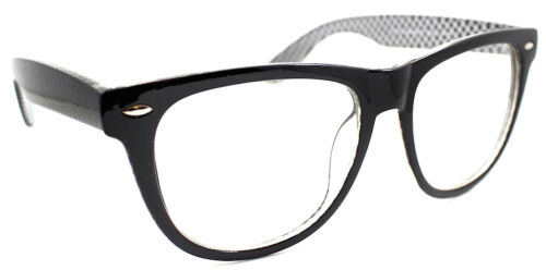 Two Tone Fashion Retro Unisex Men Women/'s Clear Lens Glasses Nerd Geek Eyewear