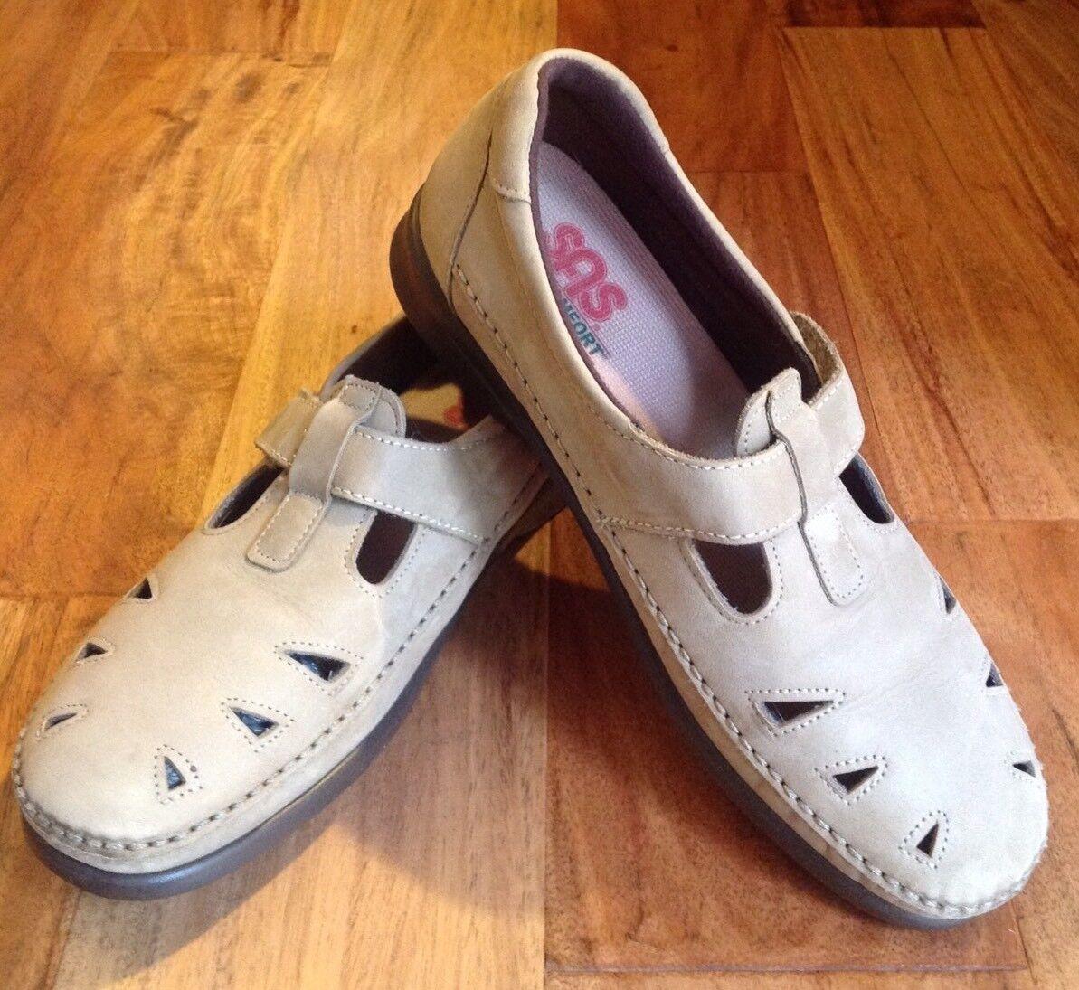 SAS Roamer 8.5 Beige Leather Mary Jane Moccasins Tripad Comfort shoes USA  168