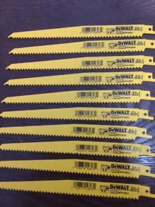 10-Dewalt-9-034-Reciprocating-Sawzall-Saw-Blades-6-TPI-Wood-DW4803-Free-Ship