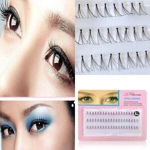 cde02274120 NEW 8/10/12MM Women False Eyelash Cluster Eye Lashes Individual ...