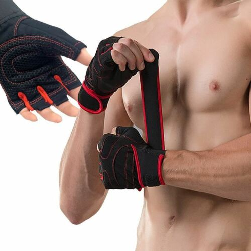 With Belt Body Building Fitness Gym Gloves Crossfit Weight Lifting Gloves For Me