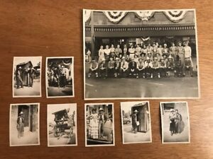 Lot-of-8-1930s-Bakersfield-Frontier-Days-Kern-County-Shooting-Vintage-Cowboy