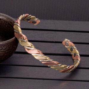 Bracelet-Torsade-en-Cuivre-Bracelet-Magnetique-Bracelet-de-Guerison