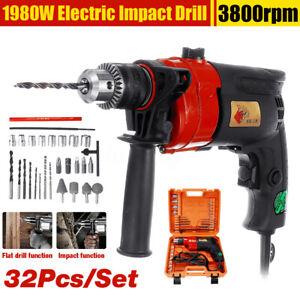 Potere-220V-1980W-martello-elettrico-trapano-cacciavite-Chuck-caso-amp-1-5-13mm