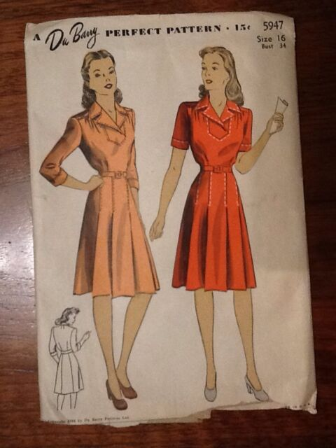 Vintage Du Barry Dress Pattern #5947