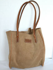 Wrangler Home Womens Large Tote Brown Suede Leather Purse Shopper Shoulder Bag