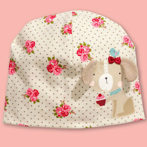 24614e5746c Details about H M Baby Girl elegant rose cute dog puppy 3D ears cupcake  bird dotted cotton hat