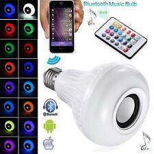 Remote Wireless LED Light Bluetooth Speaker Music Bulb Audio Lamp