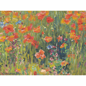 Vonnoh-Robert-William-Poppies-Extra-Large-Wall-Art-Print-Premium-Canvas-Mural