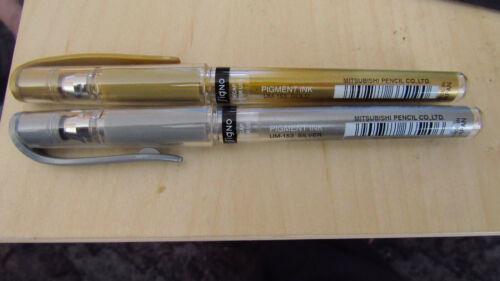 2 stück uni-ball Signo Gelroller UM-153 1,0mm 1x gold und 1x silber Gelstift
