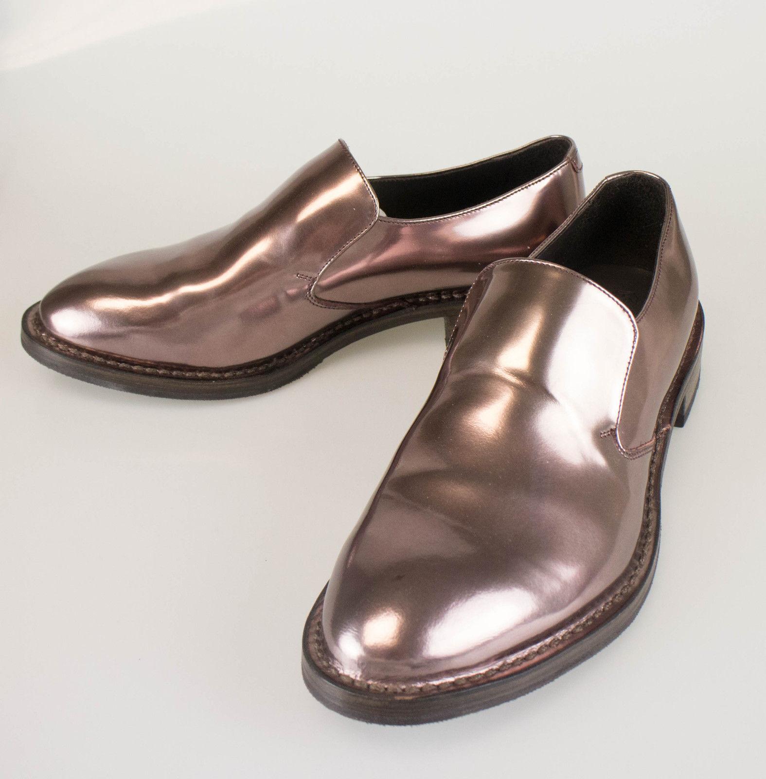 Nuevo. BRUNELLO CUCINELLI Marrón Charol Charol Charol Mocasines Zapatos Talla 7.5 37.5  1170  para proporcionarle una compra en línea agradable
