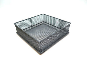 Desk-Organizer-Wire-Basket-Bin-Desktop-Drawer-Gray-Office-Home-6-039-039-W-x6-039-039-L-2-039-039-H