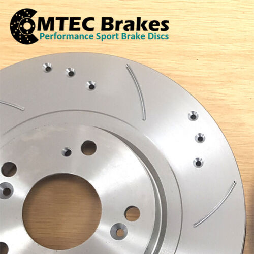 Hyundai Coupe 1.6 01//07-12//09Front Brake Discs /& MTEC Premium Brake Pads