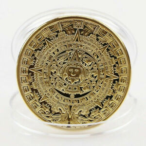 1Pc-Gold-Plated-Mayan-Aztec-Commemorative-Coin-Collection-Gift