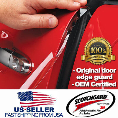 Genuine Scotchgard Pro 3M Paint Protection Film Clear Door Edge Guards 4 Doors