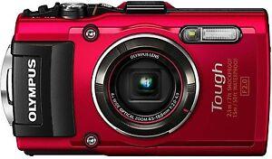 Olympus tough TG-4 wasserdichte Digitalkamera TG4 rot Neuware  Fachhändler