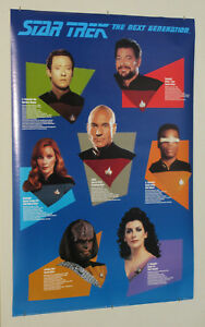 1992-Star-Trek-The-Next-Generation-TNG-36-by-24-inch-poster-1-Picard-Riker-Worf