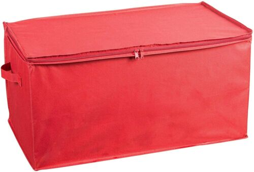 Box Stores Up to 54 Red Christmas Ornament Storage Container with Dividers