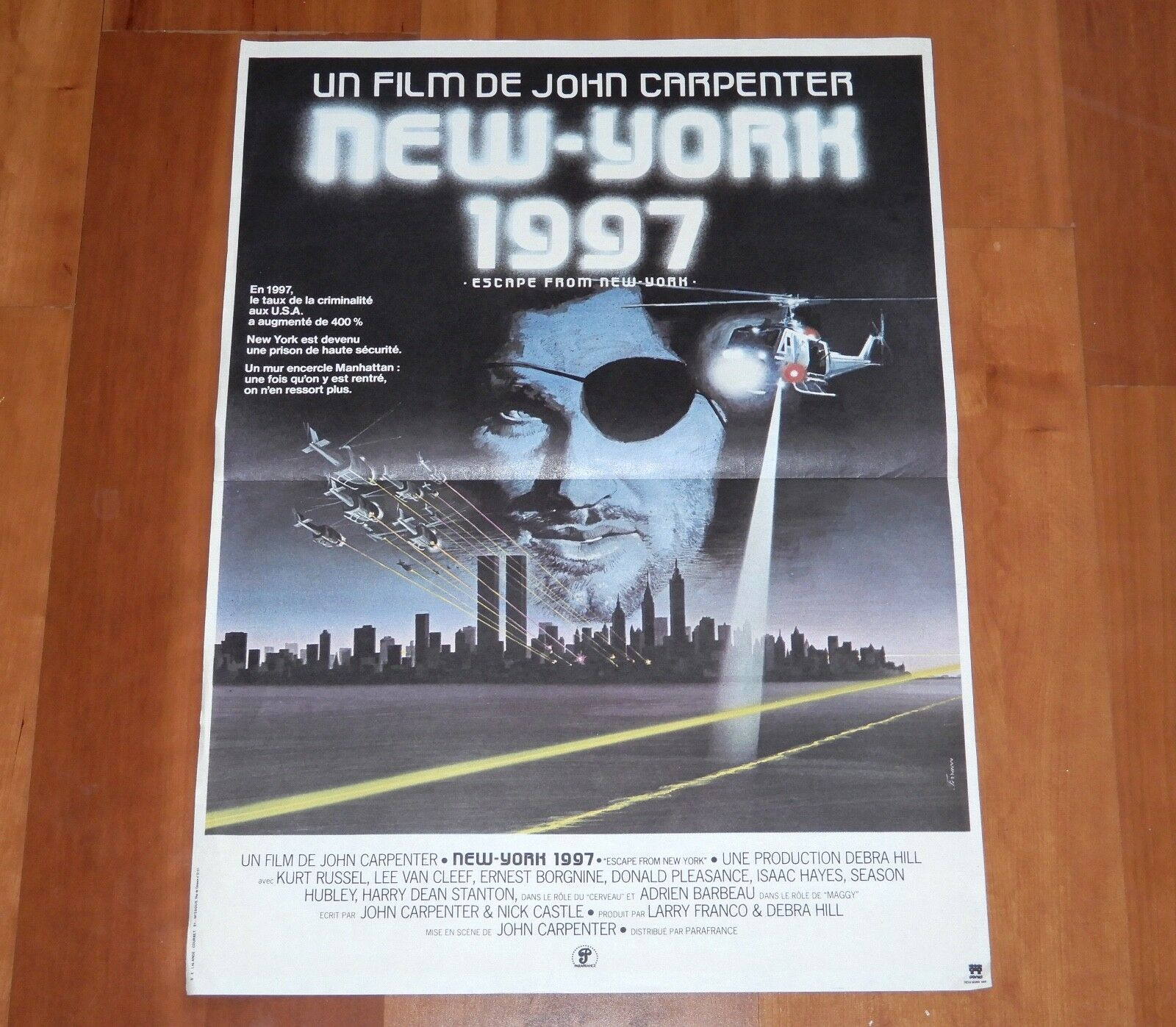 ORIGINAL MOVIE POSTER  ESCAPE FROM NEW YORK  1981 FRENCH SMALL KURT RUSSELL