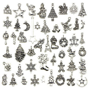 50X-Bulk-Lots-Tibetan-Silver-Mix-Christmas-Pendants-Charms-Jewelry-Making-M-amp-R