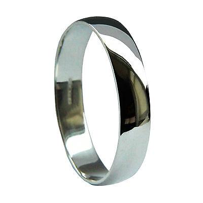 Unter Der Voraussetzung 4mm 9ct White Gold D Shape Wedding Rings Profile 375 Uk Hallmarked 2.7/3.4g