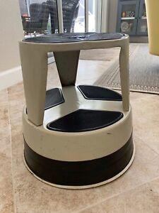 Amazing Details About Cramer Kik Step Rolling Step Stool Industrial Library Tan Customarchery Wood Chair Design Ideas Customarcherynet