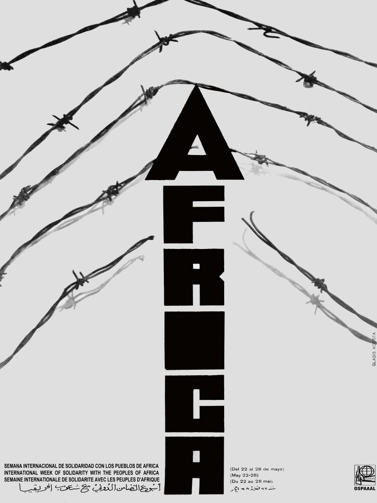 4532.OSPAAAL.africa.barbed wire.imperialism.POSTER cor Home Office art