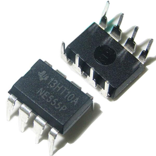 High Quality New 10PCS NE555P NE555 DIP-8 SINGLE BIPOLAR Precision TIMERS IC NS