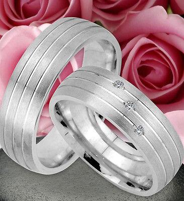 2 Ringe Trauringe Eheringe Dr Mit 3 Steine , Silber 925 , Gravur Gratis , Jk50-3 Husten Heilen Und Auswurf Erleichtern Und Heiserkeit Lindern