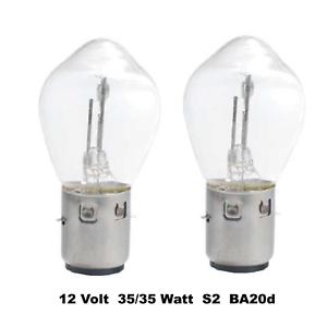 2x 12V 35//35W BA20d S2 Bilux  Moped Motorrad Birne Lampe Glühlampe  M72182a
