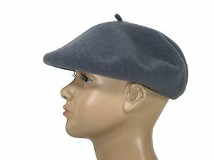 0bac141812ef8 Laulhere Children 100% Wool Beret Basque Hat Grey Made In France 6 1 ...